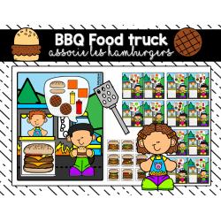 BBQ Food truck associe les hamburgers