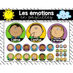 Les émotions (pastilles différentes formes)