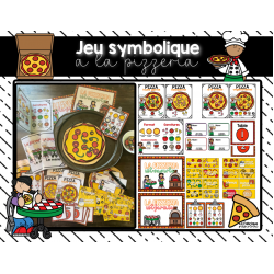 Jeu symbolique - À la pizzeria