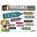 Affiche éducatives les crayons de couleurs