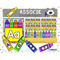 Associe l'alphabet - les crayons