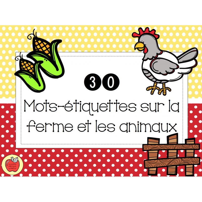 Beautiful Mots-étiquettes - Animaux de la ferme BC82