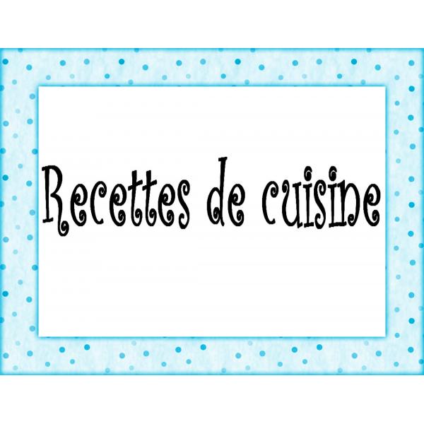 Recettes de cuisine pour enfants
