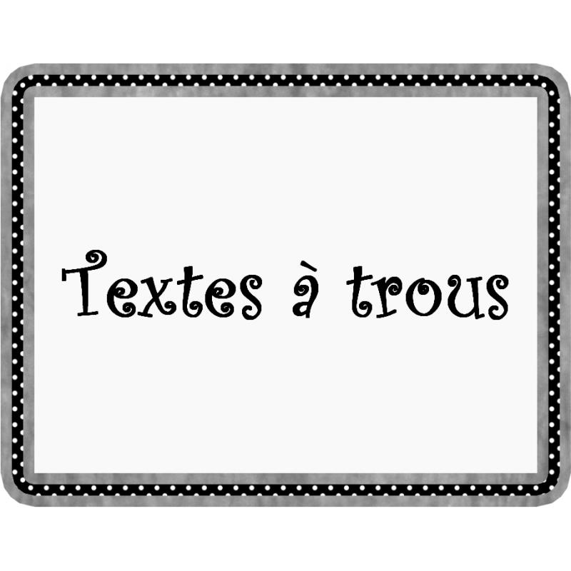 Soutien Textes à Trous