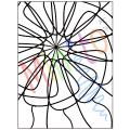 Livre à colorier 5/symétrie rotative