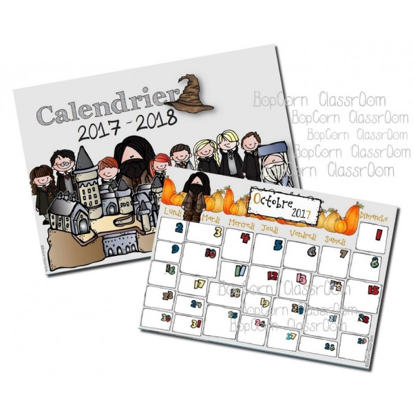 Calendrier Harry Potter 2017 - 2018