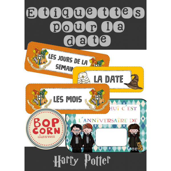 Harry Potter - Etiquettes date du jour
