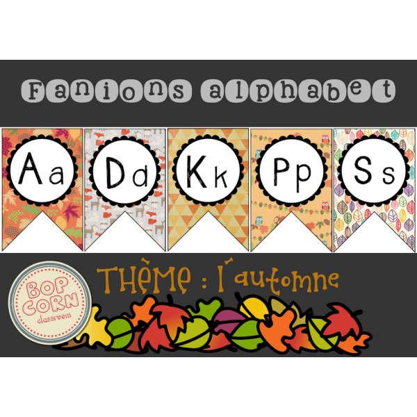 Fanions alphabet - Automne