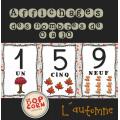 Affichages des nombres de 0 à 10 - Automne