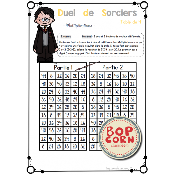 Harry Potter - Duel de sorciers Multiplications