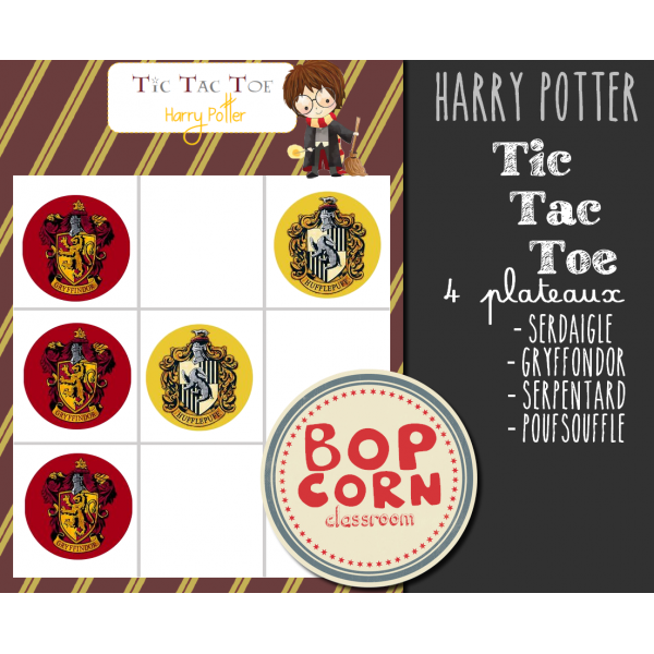 Tic Tac Toe Harry Potter - Morpion