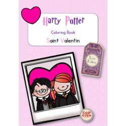 Harry Potter Coloring Book Saint Valentin