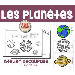 Atelier découpage - Les planètes
