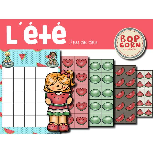 L´été - jeu de dés - Maternelle
