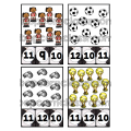 Football - Cartes à pinces et puzzles