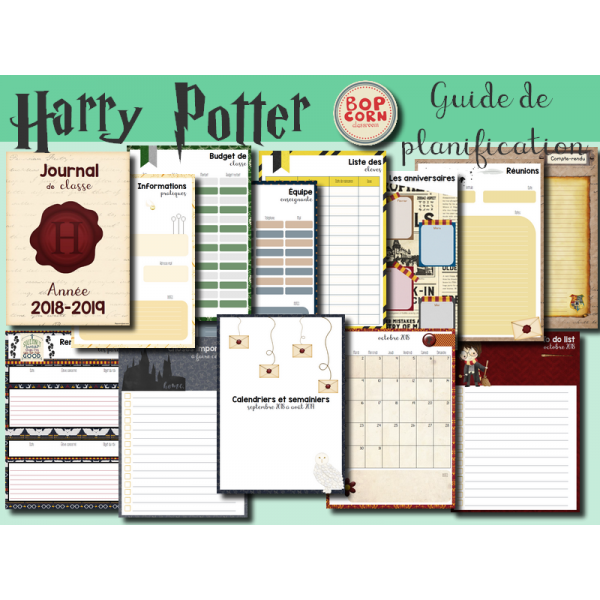 Harry Potter - Guide de planification - 156 pages