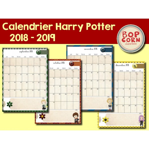 Calendrier Harry Potter 2018-2019