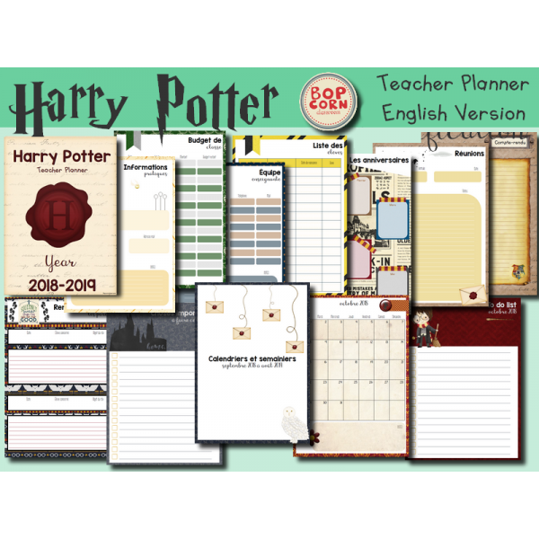 Harry Potter Teacher Planner - English Version