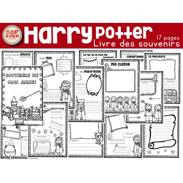 Livre des souvenirs Harry Potter - Fin d´année
