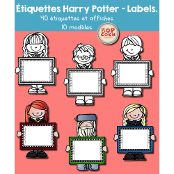 Harry Potter - étiquettes - Labels