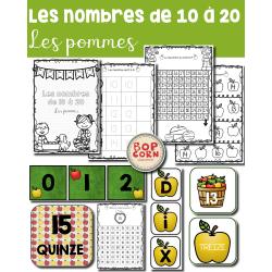 Les nombres de 10 à 20 - Les pommes