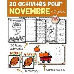 20 activités pour novembre - L´automne