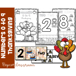 Numbers 0 to 9 - Thanksgiving