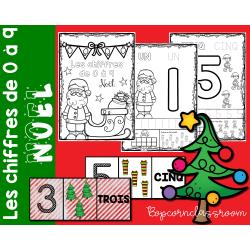 Les chiffres de 0 à 9 - Noël