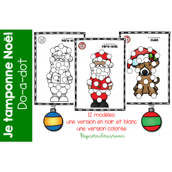 Noël - Je tamponne - Do-a-dot