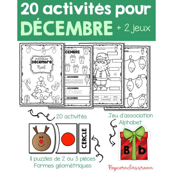 20 activités pour décembre - Noël