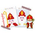 Saint Nicolas - Pixel Art et symétrie