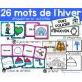 26 mots de l´hiver - Activités et étiquettes