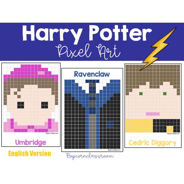 Harry Potter Pixel Art - English Version