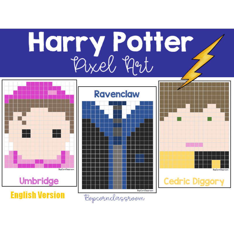 Harry Potter Pixel Art English Version