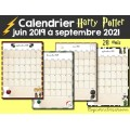 Calendrier 2019-2021 Harry Potter