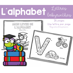 Alphabet - Lettres labyrinthes