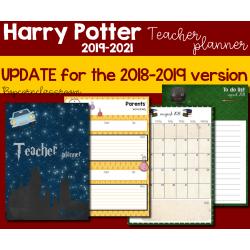 Harry Potter Teacher Planner - Update