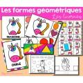 Formes géométriques - Licornes