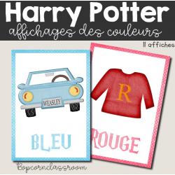 Affichages couleurs - Harry Potter