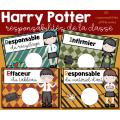 Responsabilités de la classe - Harry Potter