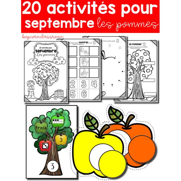 Cahier d´activités - Septembre - Les pommes