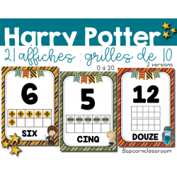 Harry Potter - Affichages Grilles de 10