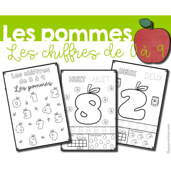 Les chiffres de 0 à 9 - Les pommes
