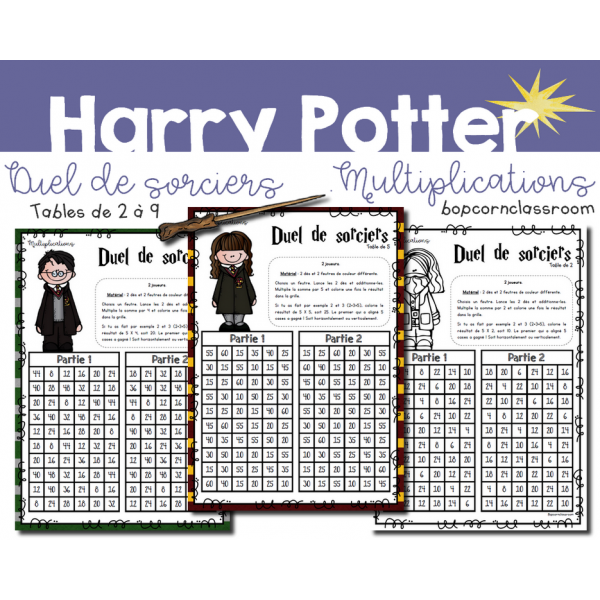 Duel de sorciers - Harry Potter - Multiplications