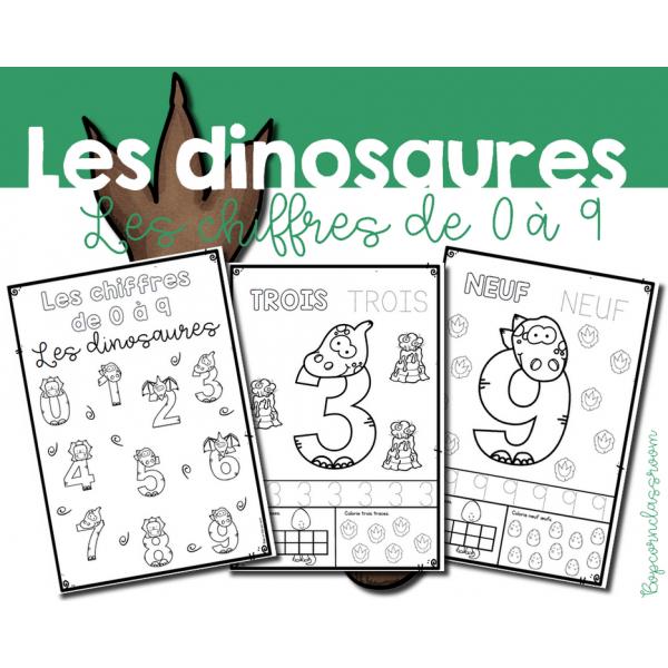 Les chiffres de 0 à 9 - Les dinosaures