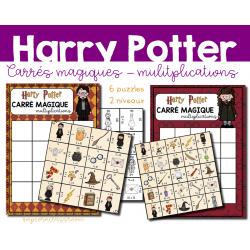 Harry Potter - Carrés magiques - Multiplications