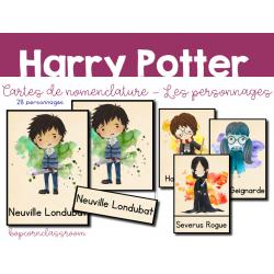 Cartes Nomenclature - Personnages - Harry Potter