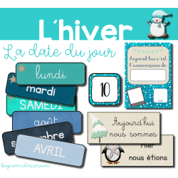 Etiquettes date du jour - Hiver