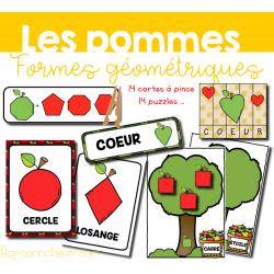 Les pommes - Formes géométriques
