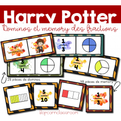 Dominos et Memory des fractions - Harry Potter